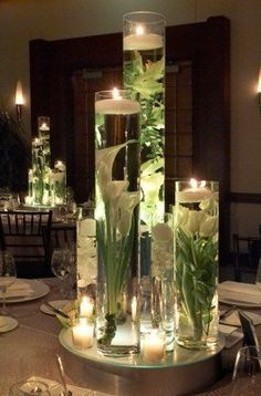 beautiful submerged centerpiece