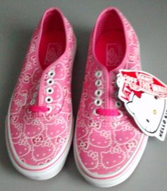 a9cc9b091aef44 Vans Women s Classic Slip-On Hello Kitty Pink White US Shoes 6.5M  Vans…