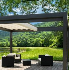 Modern Minimalist Porch Canopy Designs Ideas with Natural view