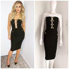 Khloe Kardashian dans une robe bustier.
