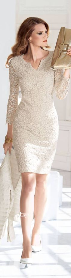 Madeleine ~ Ivory Embroidered Lace Mini Dress
