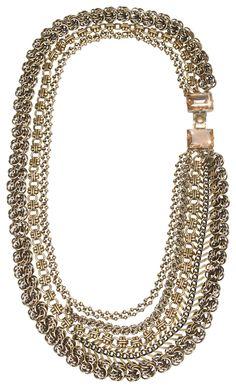Halskette Collier La Comtesse braun