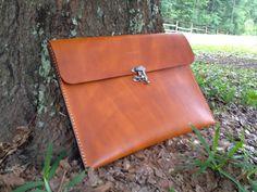 Genuine Leather Portfolio with Flap Handmade  by HeirloomLeather, $99.00