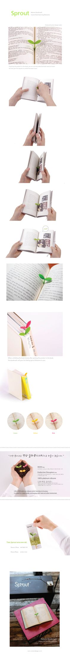 Sprout - nature bookmark $6