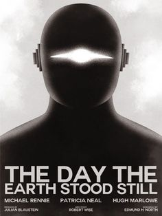 "A pithy minimalist poster for ""The Day the Earth Stood Still"" by Guillaume Vasseur"