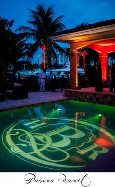 Monogram projection, company logo projection, brand logo projection | Miami and South Florida