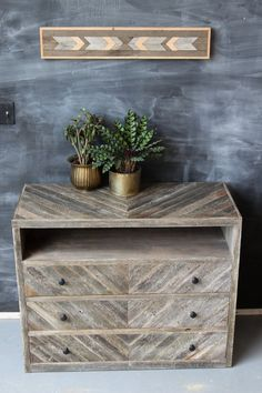 Reclaimed Barn Wood Dresser Console Sideboard by newantiquity