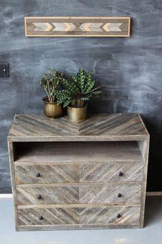 Reclaimed Barn Wood Dresser Console Sideboard by newantiquity