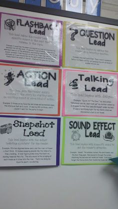 I love these anchor charts for working on great beginnings!
