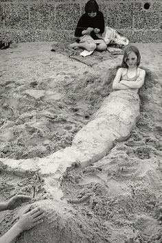 Writing in the Sand  Sirkka-Liisa Konttinen (Photographer)  Whitley Bay, '78.
