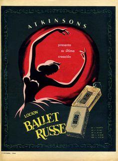 1949 ATKINSONS Ballet Russe fragrance ad Argentina (Para Ti mag)