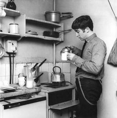 good morning with John Lennon in the kitchen