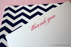 """Chevron Stationery. """"Back to School"""" notecard stationary that's lovely."""