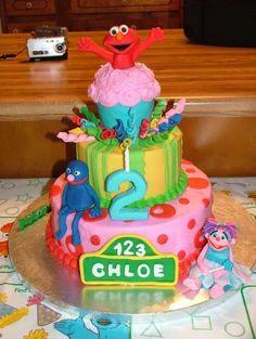 Sesame Street cake.  How cute!