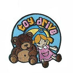 This is the perfect patch for Toys for Tots or any other toy drive your Girl Scout troop participates in. Available at MakingFriends.com
