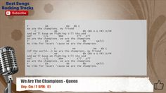 We Are The Champions - Queen Vocal Backing Track with chords and lyrics