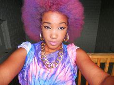 This black power purple is beautiful