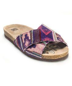 Look at this #zulilyfind! Purple Dolly Cross Over Strap Sandal by MUK LUKS #zulilyfinds