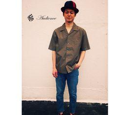 【UpscapeAudience】アップスケープオーディエンス/タイプライターオープンカラー開襟半袖シャツ/AUD1803/日本製