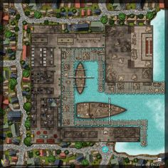 Tagged with dungeons and dragons, battlemap, dungeonsanddragons, battlemaps; Tavern and Inn at the Docks Fantasy City Map, Fantasy World Map, Fantasy Places, Dungeons And Dragons Homebrew, D&d Dungeons And Dragons, Dnd World Map, Pathfinder Maps, Rpg Map, Building Map