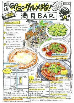 Food Catalog, Japanese Food Art, Food Map, Food Poster Design, Food Sketch, Food Painting, Food Icons, Food To Go, Food Journal