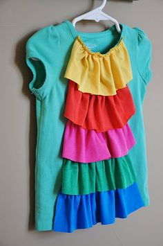 Popsicle Ruffle Top by Living With Punks...wouldn't mind making myself one! Cute!