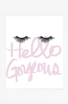 Spire Trends: Hello Gorgeous Print Eyelash Art Makeup