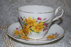 REGENCY Daffodil Bone China Vintage Tea Cup and by HoneyandBumble, $14.00