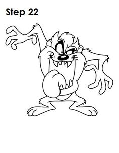 Learn how to draw Taz from Looney Tunes with this step-by-step tutorial and video. Lion Drawing, Collage Drawing, Graffiti Drawing, Drawing Letters, Cool Art Drawings, Disney Drawings, Easy Drawings, Looney Tunes Characters, Looney Tunes Cartoons