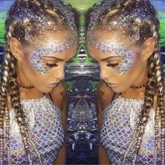 ✨BRAIDS N GLITTER✨ Who's coming to Find the Shrine this summer for all their Braid N Glitter NEEDS!! ✨ Festival we will be at LAUNCHING SOON!!✨ @rhiabartonmua wearing our Silver Mix Glitter ✨ Shop link in bio ✨