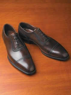 Ben Silver Albany Oxford in Dark Brown Calfskin $855