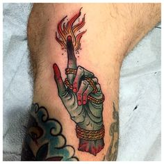 Your body is a temple, but how long can you live in the same house before you redecorate. Leg Tattoos, Body Art Tattoos, Cool Tattoos, Tatoos, Fire Tattoo, Snake Tattoo, Occult Tattoo, Traditional Tattoo Flash, Tatuagem Old School