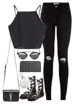 """""""Untitled#3546"""" by fashionnfacts ❤ liked on Polyvore featuring Zara, Schutz, Yves Saint Laurent, Christian Dior and MICHAEL Michael Kors"""