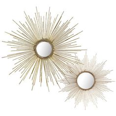 Gold Burst Wall Decor - for some reason, I think these would be nice in the half bath!