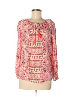 16336fd2 Faded Glory Long Sleeve Blouse: Size 8.00 Light Pink Women's Tops - $8.99 Faded  Glory