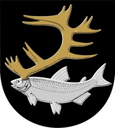 Coat of arms for Inari region in Finland, which has a large Sami-speaking minority.