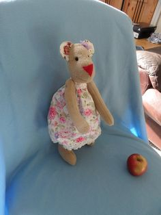 Softie Plush toy funny bear mouse tilda doll soft by FunnyBunny345