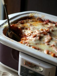 Slow Cooker Baked Ziti -- No boiling noodles ahead of time!