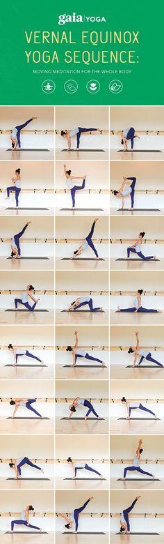 Vernal Equinox: Rhythm and Ritual Through Yoga. Full written yoga sequence + accompanying video #yogasequence
