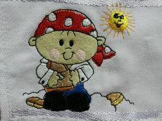 Toalha lavabo infantil- Tema Pirata