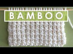 BAMBOO Knit Stitch Pattern - YouTube