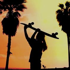 From tumblr.. Sunset longboardn' :)