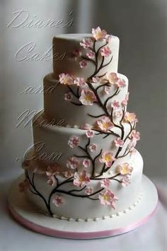 Cherry Blossom Wedding Cakes  Cake With Blossoms