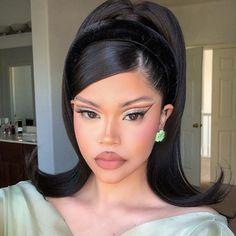 Edgy Makeup, Makeup Eye Looks, Cute Makeup, Pretty Makeup, Beauty Makeup, Hair Beauty, 90s Makeup, Gorgeous Makeup, Aesthetic Hair