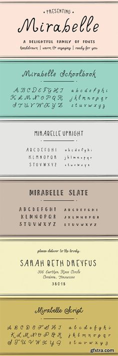 Mirabelle Font Family - 4 Fonts for $56