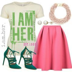 """I AM HER"""""""" EST. 1908 AKA Inspired Women's Fitted Tee: Be Bold, Daring and Fearless! EST. 1908 AKA Fitted Tee intended to celebrate the legacy of Alpha Kappa Alpha Sorority Incorporated. I AM HER Appar"""