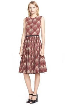 MARC+JACOBS+Plaid+Print+Pleated+Wool+Dress+available+at+#Nordstrom
