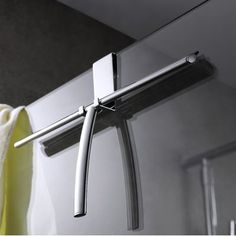 Dezi Home Shower Screen Hanger Double Wall Mounted Robe Hook Finish: Polished Nickel