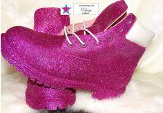 Custom PINK Glitter Timberland Boots - Eshays, LLC | Eshays, LLC