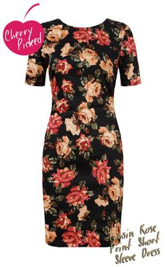 We love winter florals - it has to be one of our favourite trends of AW13 for the dark, glamorous mood. This rose printed dress is perfect to welcome in the trend. In a simple, yet feminine shape it has a lovely romantic feel #cherrycherry   #cherrypicked   #winterflorals   #romantic   #floralprint